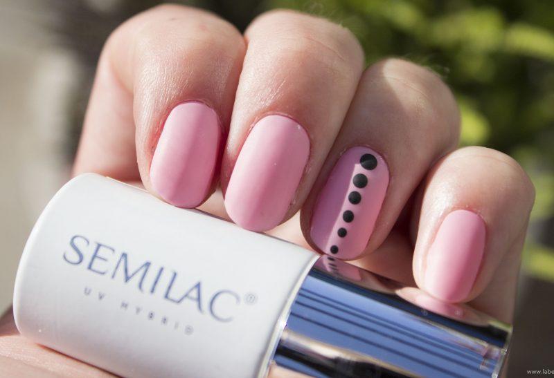 Nails | Semilac 199 Warm Pink + Mat top coat