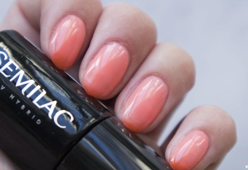 Nails | Semilac Thermo: Orange&Peach
