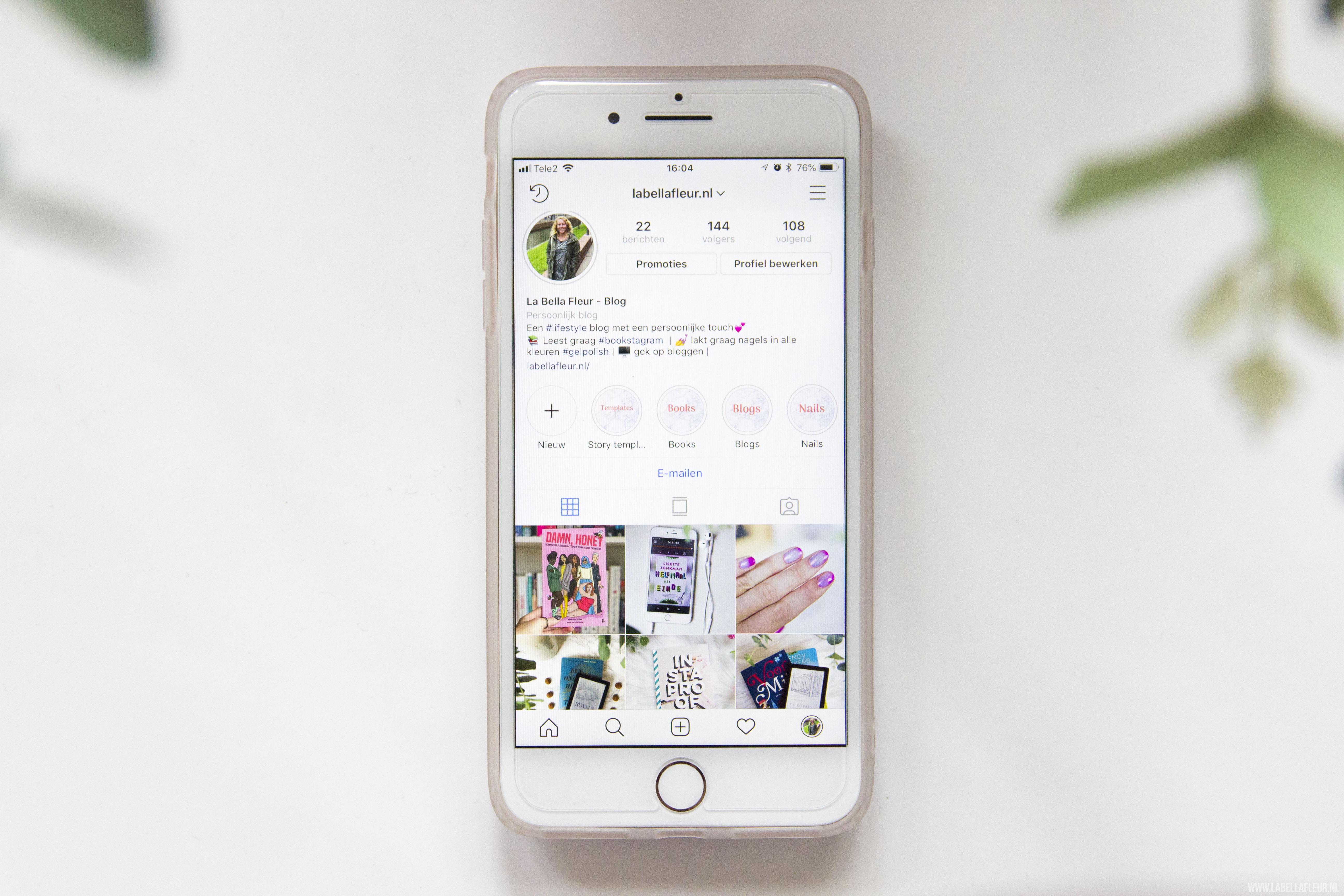 Instagram, bookstagram, openbaar profiel