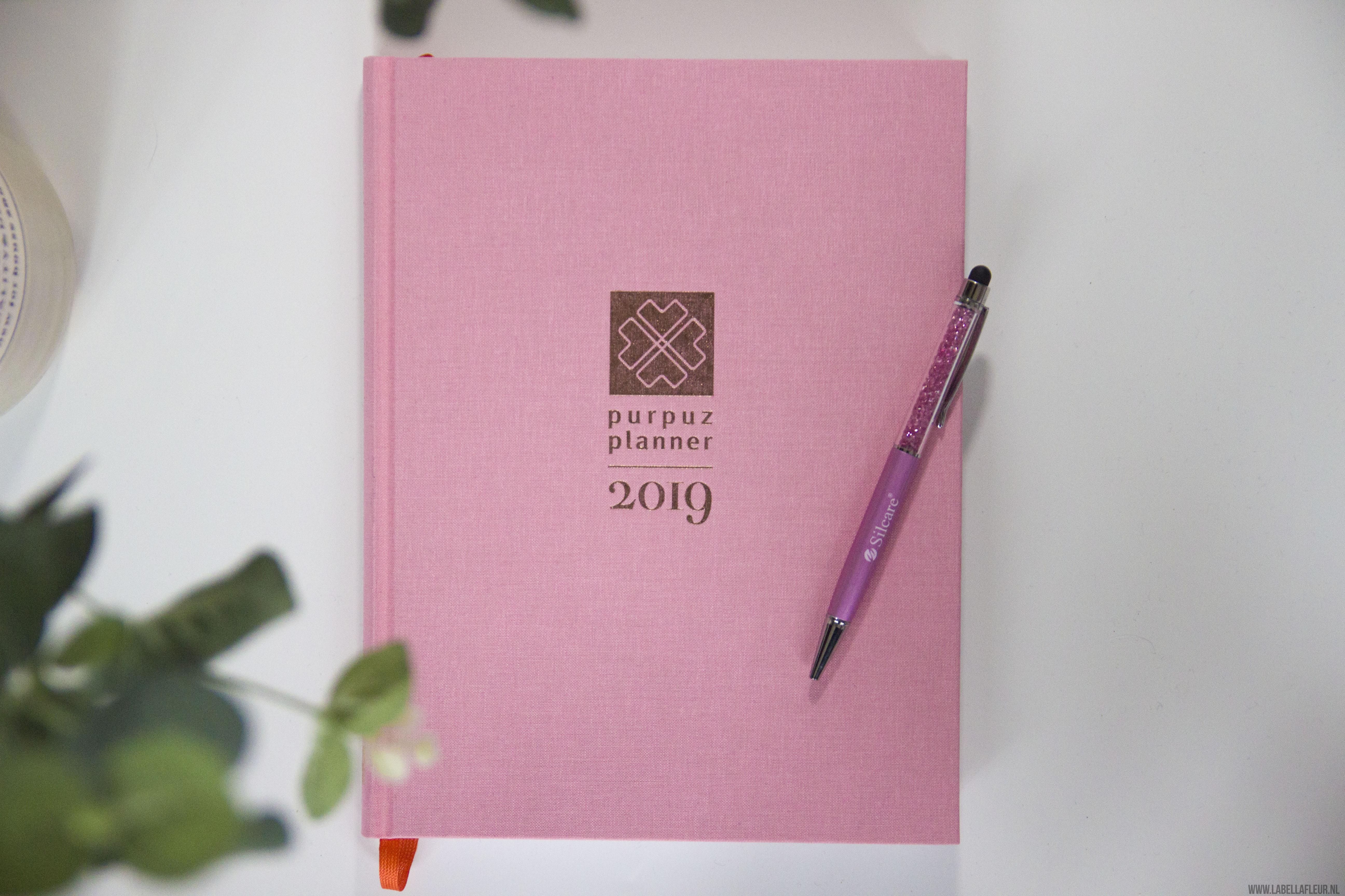 Purpuz planner 2019, clén verkleij, planner, agenda